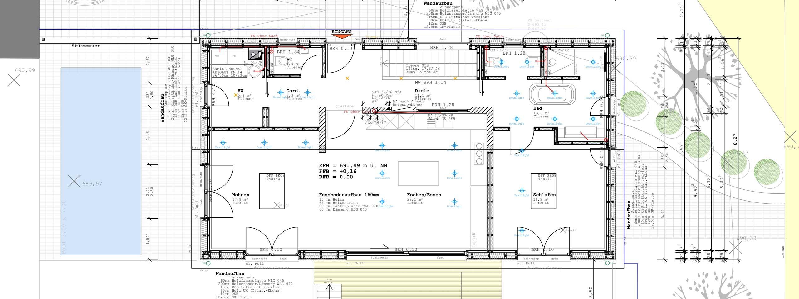 Architekturdienstleistungen architekt tobias frohberger for Zweifamilienhaus plan